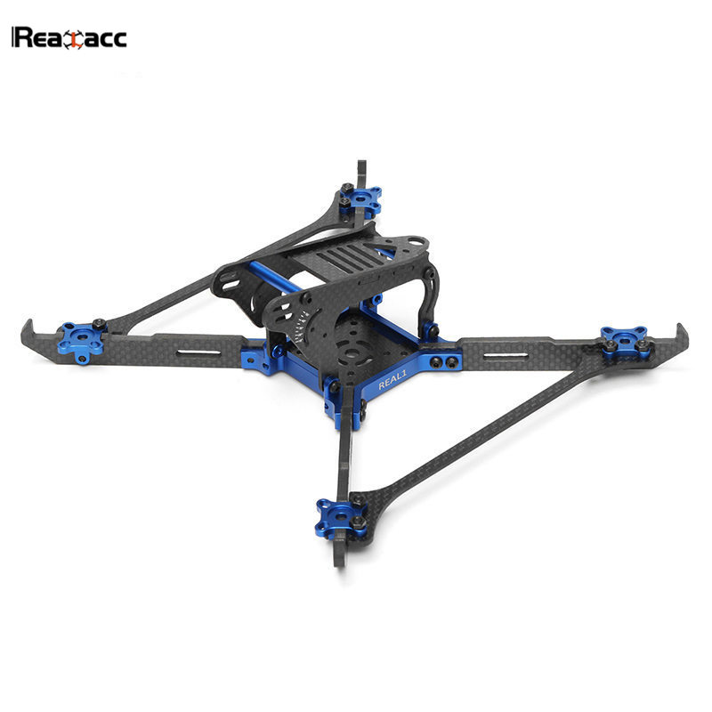 Original Realacc Real1 220mm 5 Inch 4mm Thickness Vertical Arm CNC Carbon Fiber Frame Kit For RC Quadcopter Motor ESC Toys realacc dkb220 220mm 5 inch 4mm arm thickness carbon fiber frame kit for fpv racer drone diy rc multirotor quadcopter parts accs