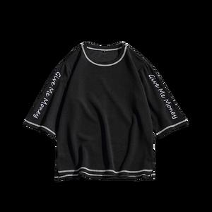 Image 5 - 2020 جديد عصري الرجال T قميص عارضة 3/4 كم ضئيلة الرجال الأساسية قمم المحملات الصيف تمتد تي شيرت ملابس الرجال قميص أوم 5XL
