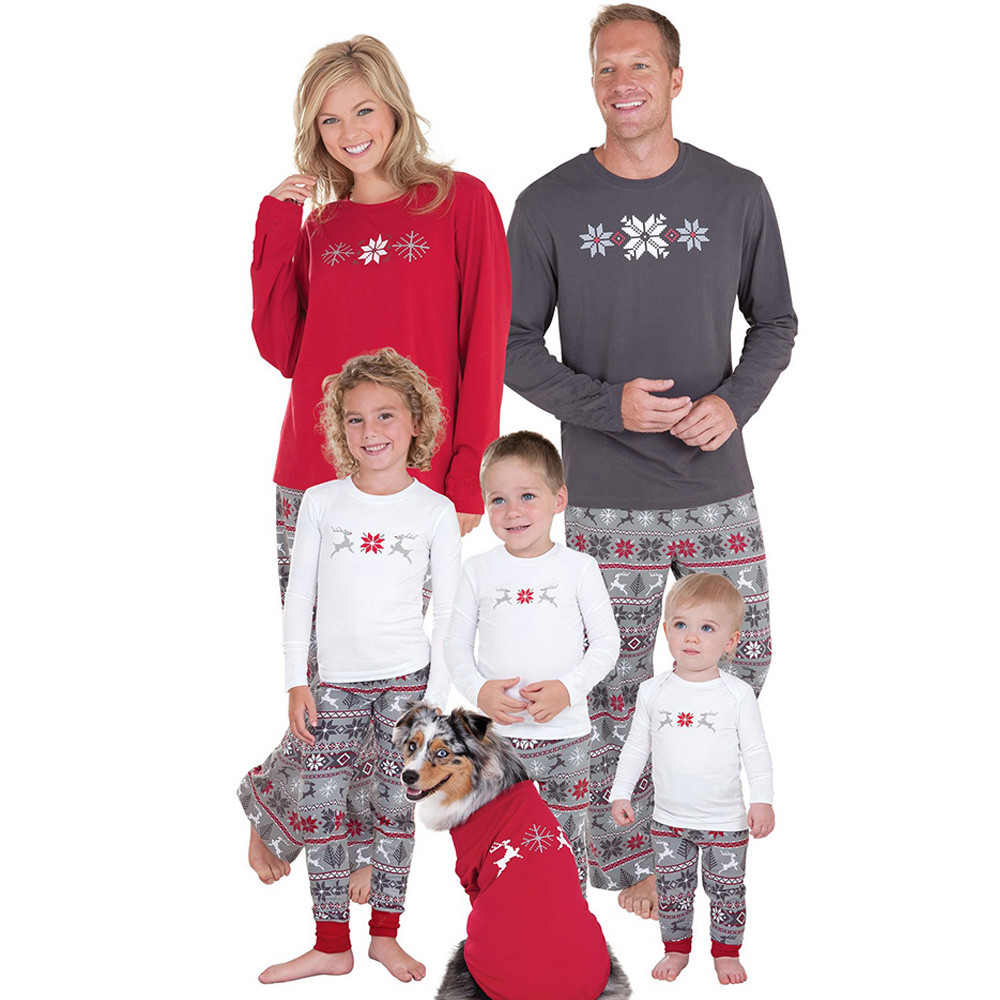 ee11cc8424 Detail Feedback Questions about 2PCS Christmas Children Kids Long Sleeves  Deer Print Top+Pants Set Outfit family christmas pajamas on Aliexpress.com  ...