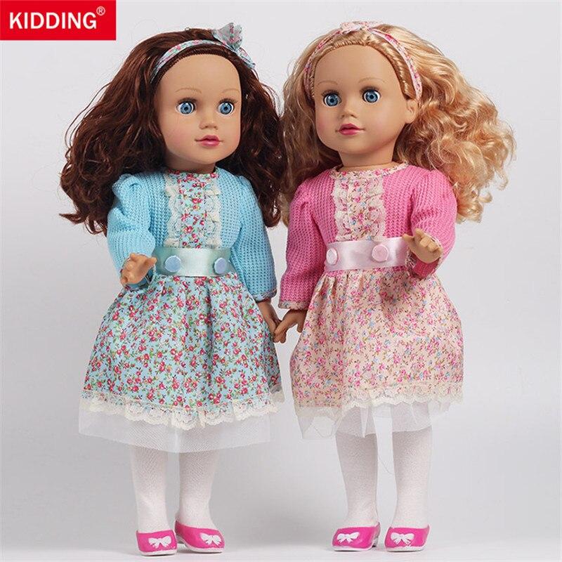 цена на simulation girls doll 45cm reborn dolls Baby Doll Toy bathing pretend play educational toys for children kids birthday gifts