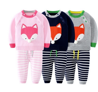 2017-Girl-Boy-Knitting-Winter-Sweater-Kid-Knit-Jacket-Long-Sleeve-Baby-Clothes-2-pieces-Top-Pants-3