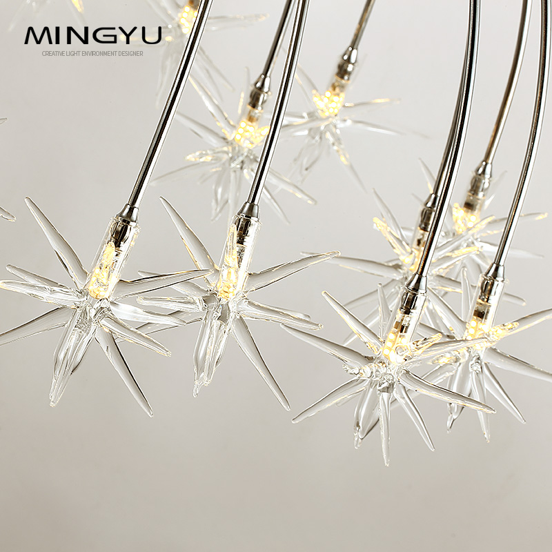 Moderne Kronleuchter Lampe Glas Sterne Suspension Weihnachten Schnee Licht Hotel Restaurant Esszimmer Wohnzimmer Beleuchtung - 4