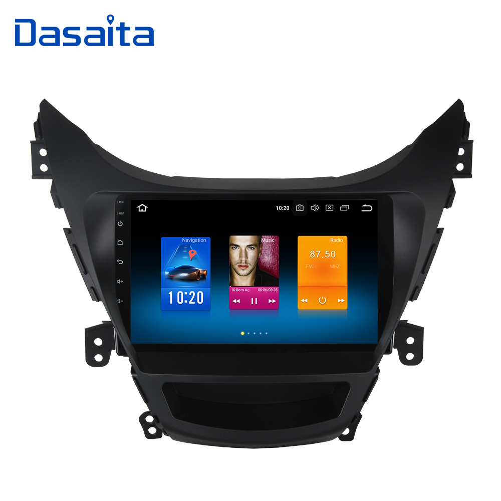 Dasaita Android 8.0 Car Multimedia for Hyundai Elantra I35 Avante Radio 2010 2011 2012 2013 NO DVD 9 Touch Screen 4*50W Stereo farcar s130 hyundai elantra 2011 2013 android w360