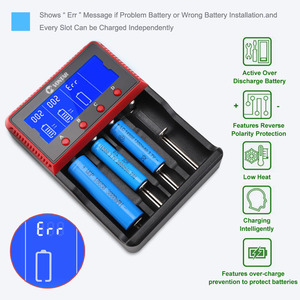 Image 4 - Зарядное устройство VONTAR VT4, 4 слота, ЖК дисплей, аккумуляторная батарея для NiMH Ni CD LiFePo4 AA AAA 26650 14500 22650 18650 PK D4 D2