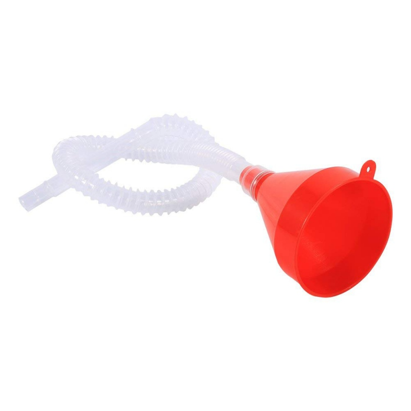 Pour Oil Tool Car Motorcycle Truck Vehicle Plastic Filling Funnel With Soft Pipe Spout Petrol Diesel