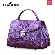 heimanba crocodile Women's bag slanted slanted slung women bag lady's crocodile  leather handbag girl