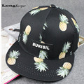 2016 Hot Cool Bone aba reta pineapple fruit Hat Female Male Snapback Cap Men Women Basketball Hip Hop Peaked Baseball Caps CA15