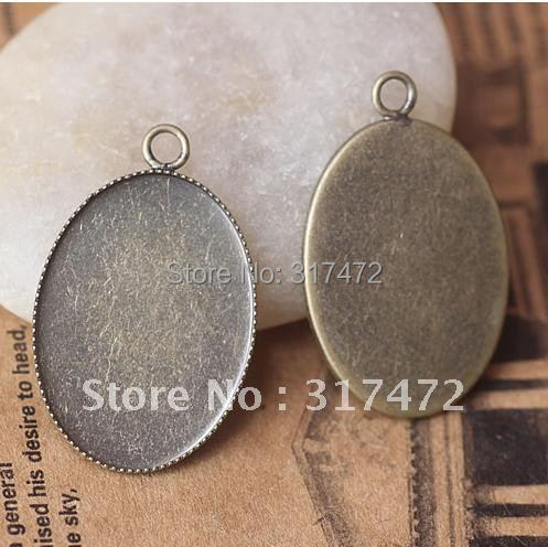 FREESHIPPING!! 500PCS/LOT 18*15mm Antique Bronze blank Cameo Cab Base Setting Pendant NICKEL Lead FREE