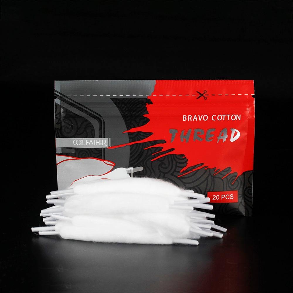 Coil Father Electronic Cigarette Bravo Vape Cotton 15pcs/Pack For RDA RTA RBA Atomizer Coil Wire Organic Cotton VS 20pcs/Bag