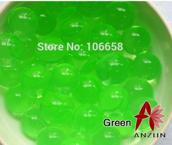 1200 шт почва из гидрогеля прозрачный цветок растения вода питательный Биогель почва семья украшение - Цвет: No 4 Green