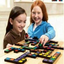 送料無料子供木製ブロック Qwirkle おもちゃ、木製親子ダブルゲーム、子供のブロック知育玩具