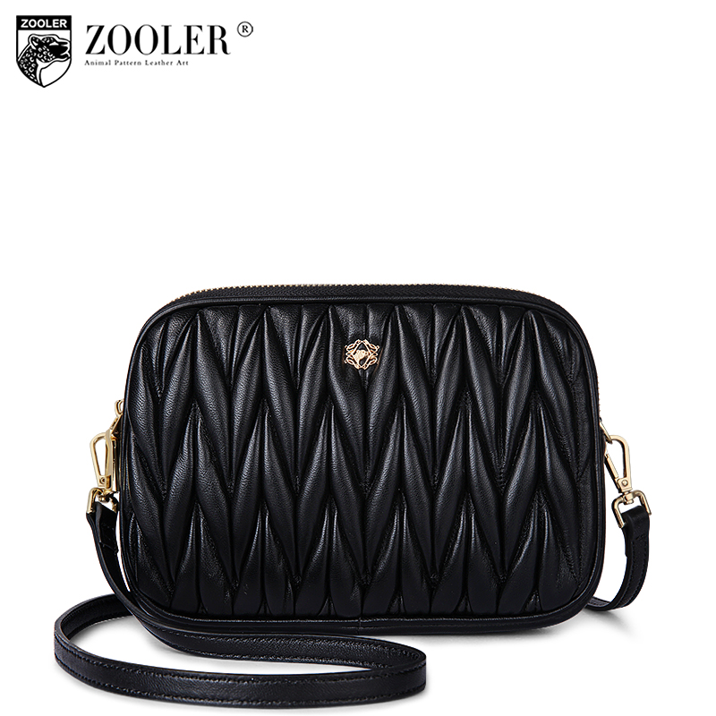 Top brand genuine leather woman bag ZOOLER 2018 cross body bags lady shoulder bag travel accessories bolsa feminina hot #b105 zooler 2018 luxury genuine leather bag for woman chain shoulder bag designer woman fashion cross body bags bolsa feminina bc100