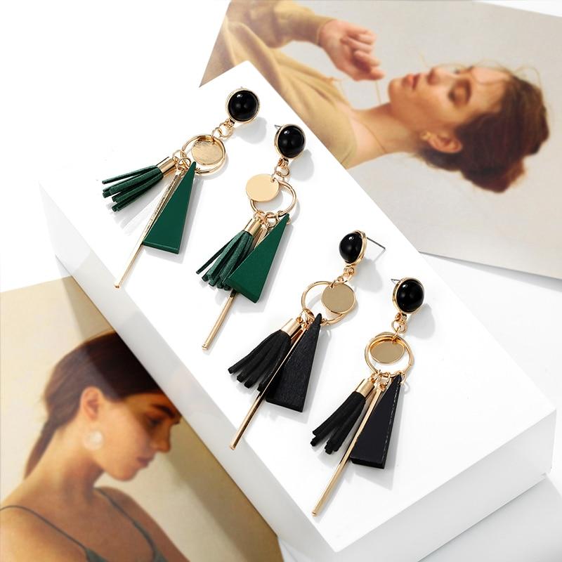 Women's Geometric Earrings with Tassels Earrings Jewelry Women Jewelry