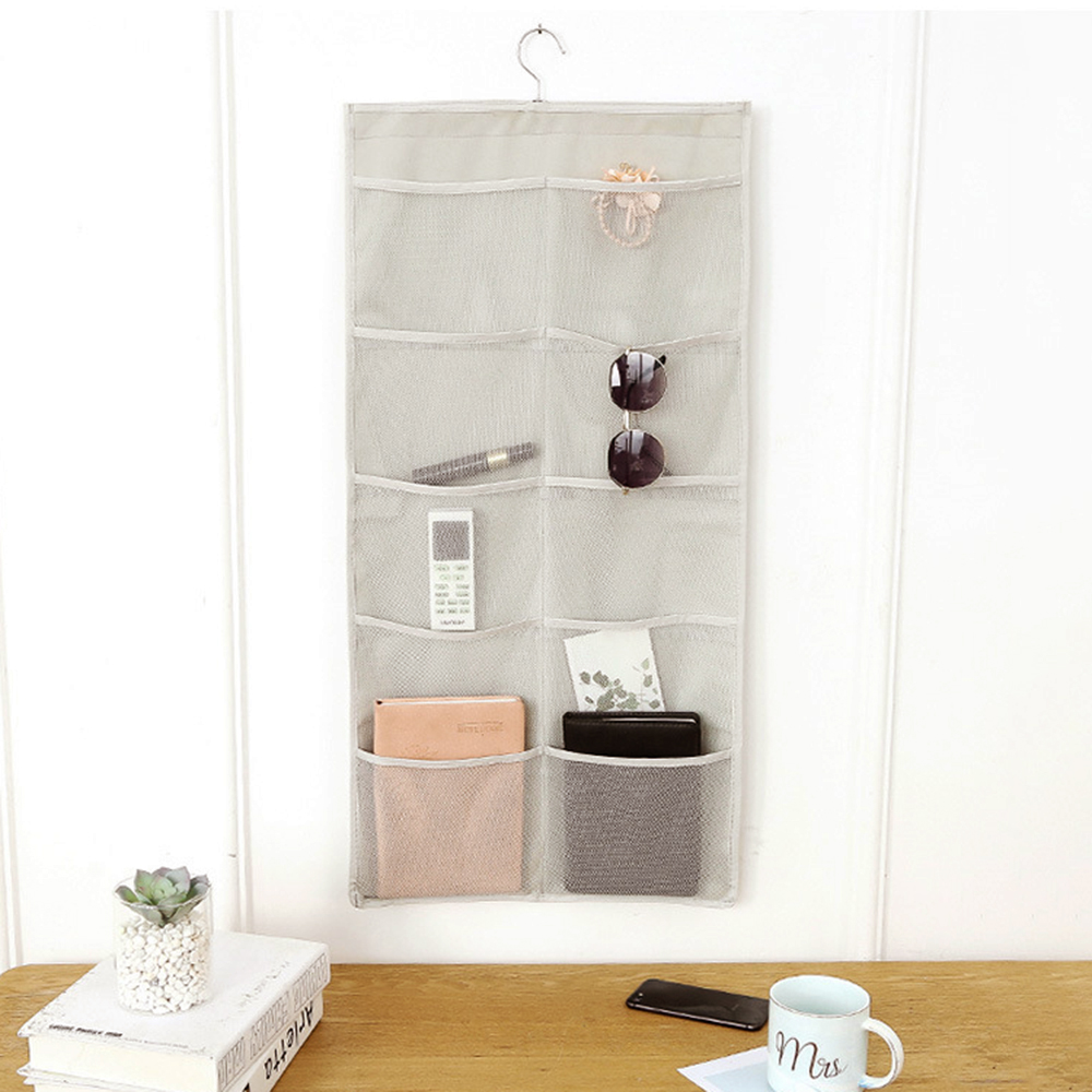 Double Sided Hanging Storage Bag for for Socks Bra Underwea Mesh Breathable Grids Closet Wardrobe Home Organizer