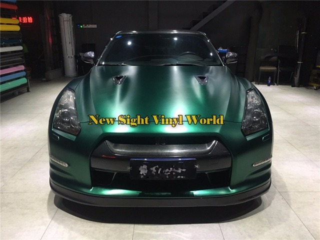 Best Quality Satin Ston Green Matte Chrome Car Vinyl Wrap Film Roll