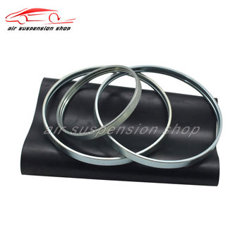 Front Air Suspension Shock Air Rubber Sleeve w/ Crimping Ring For Audi A6 C6 4F Car Repair Kits 4F0616039 4F0616040