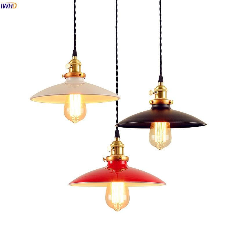 IWHD rétro Vintage Edison pendentif luminaires salle à manger salon nordique LED suspendus lumières maison pendentif éclairage lampara
