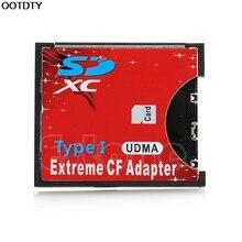 Скорость SDXC SDHC SD для CF Compact Flash карта памяти ридер адаптер тип I высокий# L059# горячий