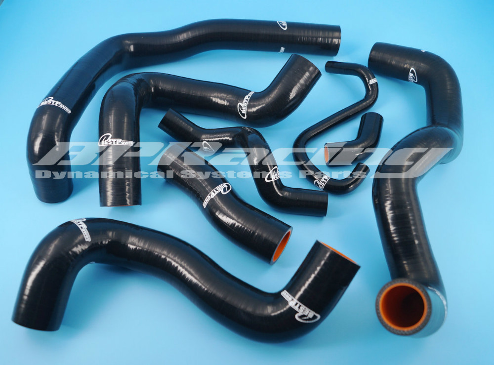 Silicone Radiator Hose Black / Pipe For BMW MINI 1.6 Turbo R56 2006-2012