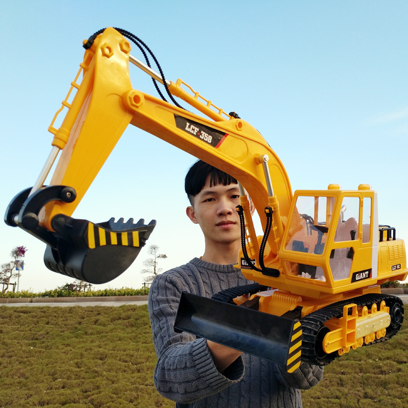 Super Remote Control Machinery Charge Action Engineering Vehicle Toys Wireless An Excavator Boy Automobilewithout original box quality good engineer series motor driven remote control tuba excavating machinery e511 toys goods in stock without original box