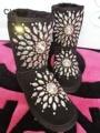 Nuevas mujeres botas de Nieve de diamantes botas de invierno botas de piel negro de la perla Botas Para la Nieve UG Australia Ug Botas Mujer Zapatos de Invierno Cálido size35-43