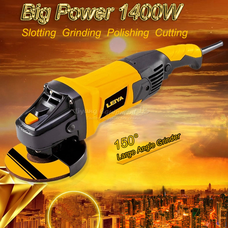 Angle grinder cutting machine polishing machine large waxing 150 big angle high power grinder Q10016 angle grinder mill cutting machine polishing large scale high power angle grinder machine 125 01