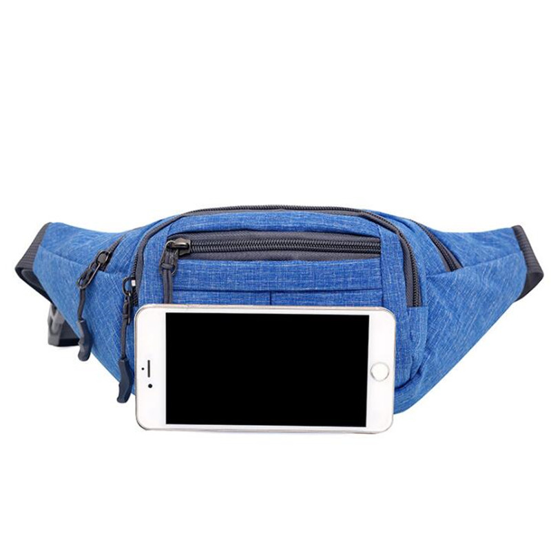 BYCOBEYC Men Male Sport Casual Functional Fanny Bag Waist Bag Money Phone Belt Bag Pouch Gray Black Hip Bag Shoulder belt pack in Waist Packs from Luggage Bags