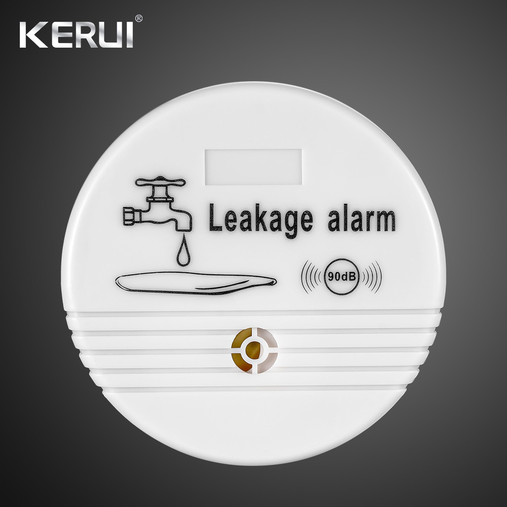 Independent Wireless Water Leakage Sensor 90 dB Volume Water Leak Alarm for Home Kitchen Toilet Floor Detector hf5111 direct factory wireless water overflow leakage alarm sensor detector 130db voice work alone water alarm home security