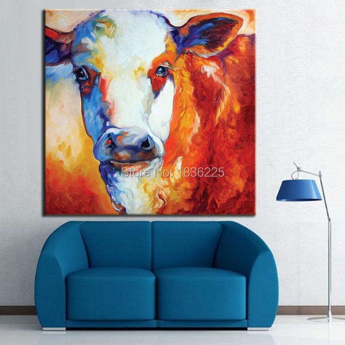 Stretched Canvas Oil Painting On Interior Decoration Animal