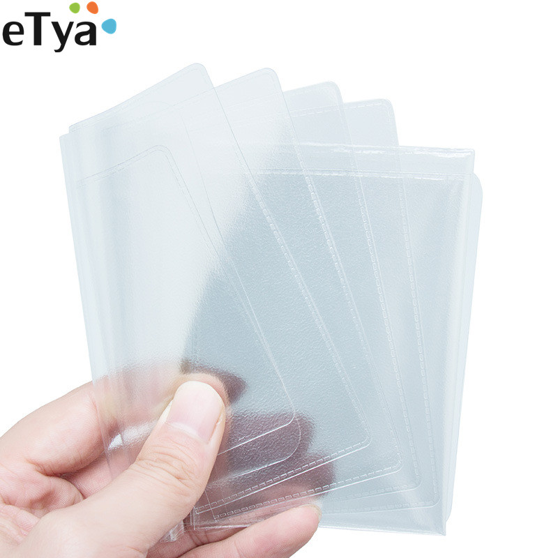 ETya 2019 Unisex Russian Driver License Bag Case PVC Transparent Auto Documents Cover Protect ID Credit Card Holder Men Women