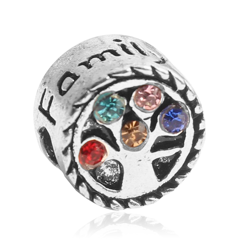Pandora Jewelry Free Shipping: Free Shipping European Silver Rainbow Crystal Love Family