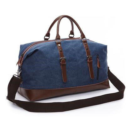Vintage military Canvas Leather men travel bags Carry on Luggage bags Men  Duffel bags travel tote large weekend Bag Overnight 1ea4ca9f015bc