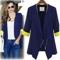 Tamaño S-XLwomen blazer 2016 primavera/otoño trajes de mujeres mujer marca blazer coat Business casual delgado de Un Solo Botón chaqueta y41