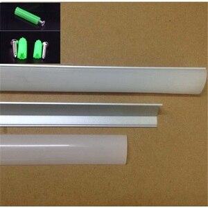 Image 3 - 10pcs/lot  2meters 45 degree aluminium profile,10pcs/lot  led strip channel for 10mm PCB board  led bar light