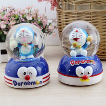 Cartoon Doraemen Crystal Ball Music Box Creative Fashion Christmas Home Decorations Birthday Gifts for Children