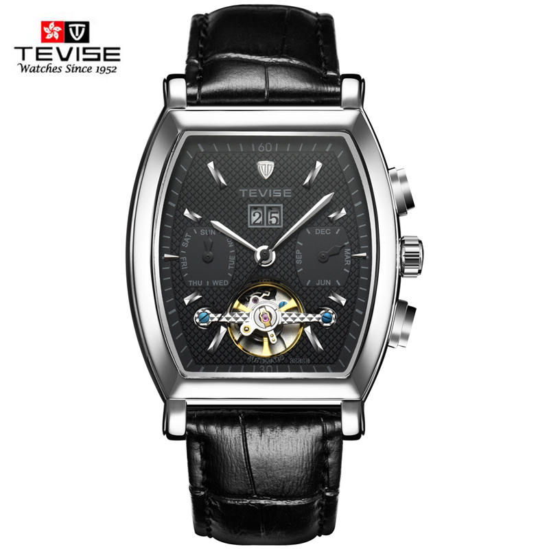 TEVISE Arrival Luxury Brand Leather Strap Men Watches Automatic Mechanical watch Business Vintage Clock relogio masculino Clock forsining gold hollow automatic mechanical watches men luxury brand leather strap casual vintage skeleton watch clock relogio