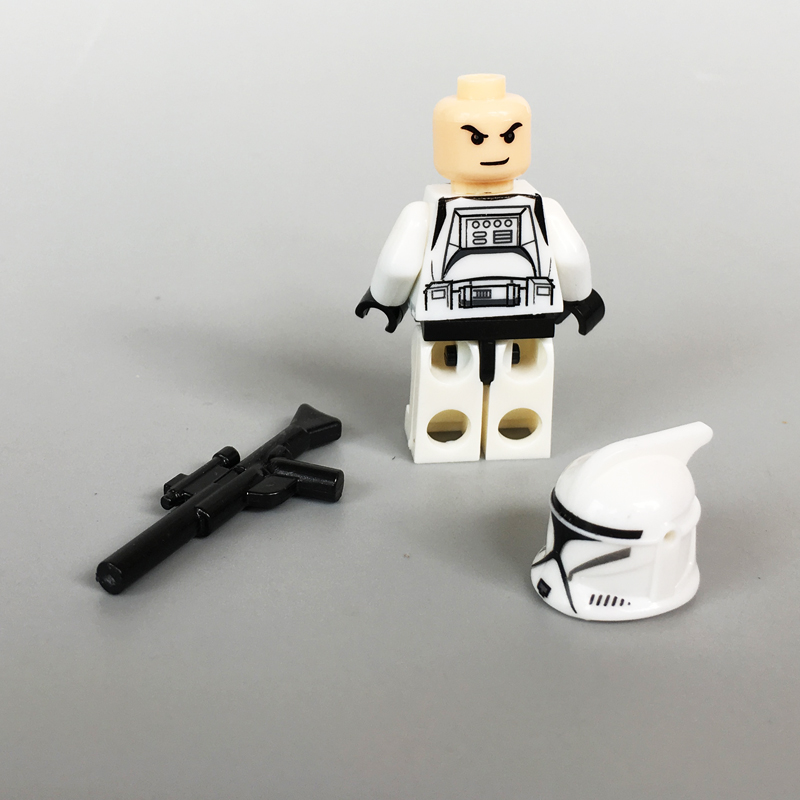 Image 5 - 21PCS/LOT STAR WARRS 501st Clone Trooper SW445 with Weapons mini figure compatible legoe building block Kids toys for ChristmasBlocks   -