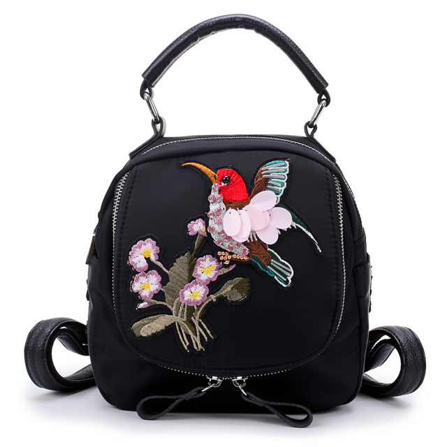 Fashion Women Shoulder Mini Bag Designer Handbags High Quality National Embroidery Handmade Dragonfly Or Bird Woman