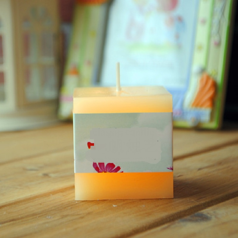 Creative Scented Birthday Weddings Candles Colorful Rectangle Flameless Candles Aromatherapy Weddings Birthday Decoration