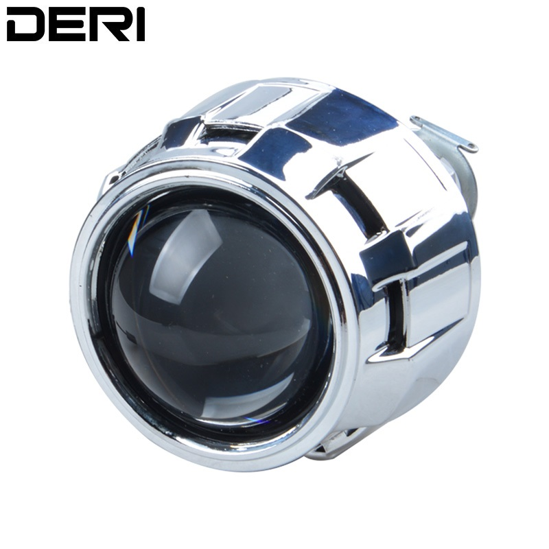 2.5 inch HID Xenon Bi Xenon Projector Lens Retrofit Car Styling HeadLight DIY Lamp for H1 Bulb with Silver Shrouds H4 H7 Socket