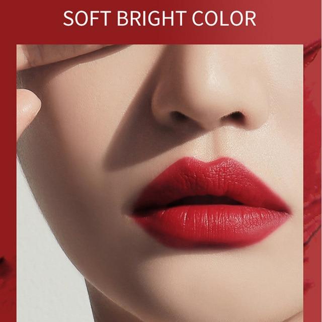 6 colores pintalabios de larga duración mate hidratante taza antiadherente maquillaje cosmético para mujer