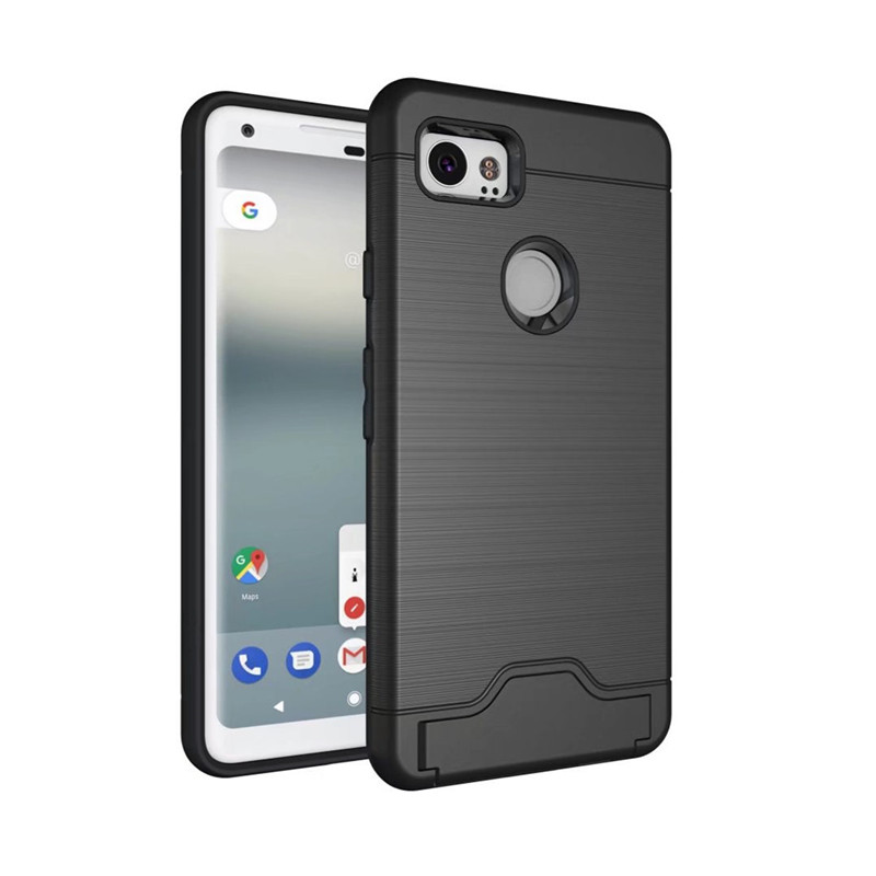 For Google Pixel 2 / 2 XL Case Luxury Slim Drawing Armor Credit Card Back Cover For Pixel XL Stand Holder Card Slot Coque Fundas