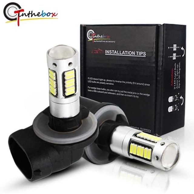 Gtinthebox luces antiniebla de coche, bombillas led H27 880 881, bombillas de repuesto para luces antiniebla de coche, lámparas de conducción, blanco, rojo, azul, azul hielo, amarillo