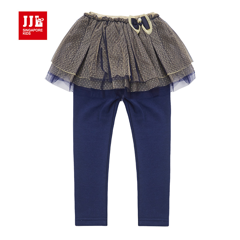 winter girls skort kids lace skirt with legging fur lining warm kids leggings thicken skinny kids cake skirt bubble skirt brand