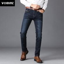 53f7624109 Nueva moda Pantalones vaqueros para hombre Pantalones vaqueros informales  elegantes Regular rectos de alta elasticidad pantalones
