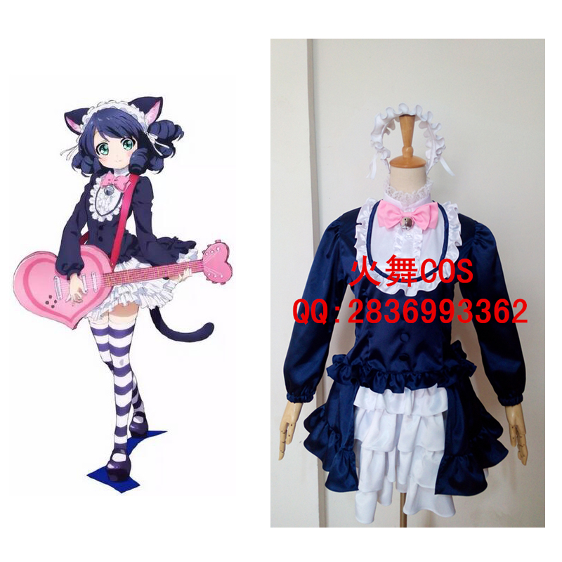 2016 показать рок Карнавальный Костюм Аниме Косплэй японского аниме костюм кошки одежда Женщина-кошка голубой карнавальный костюм
