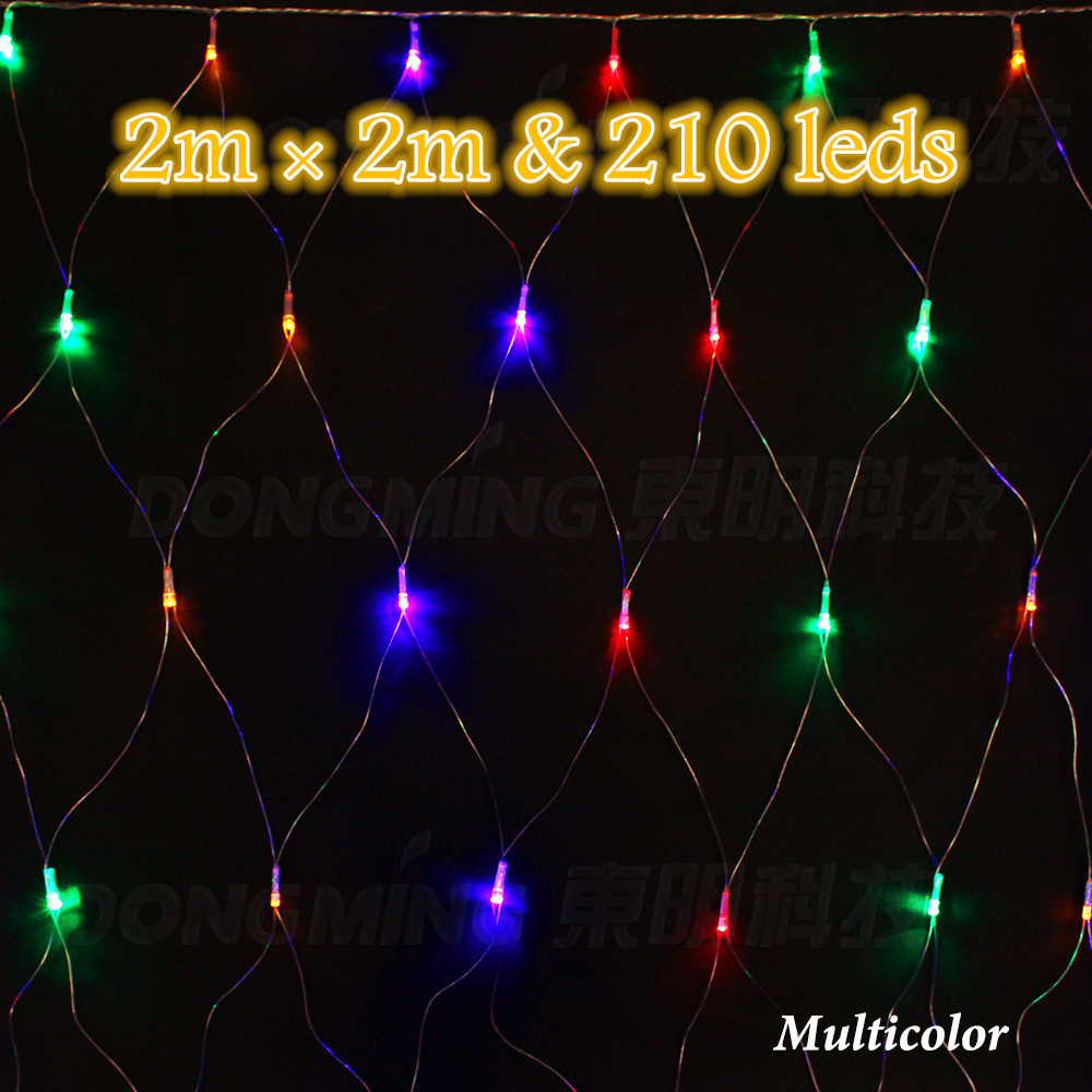2*2m RGB Led string light mesh 220V Outdoor garden festival holiday Xmas christmas wedding Decoration light net colorful 2m*2m