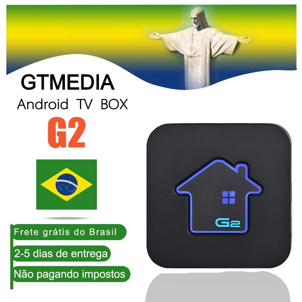 GTMEDIA G2 Android 7.1 Smart TV BOX 2G 16G Ship From Brazil S905W 4K 3D Ultra HD TV Wifi Bluetooth Google Play Store IPTV TV Box