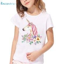 498cd8098 Kids Harajuku Dabbing Unicorn Print T shirt Children Summer White Tops Boys  and Girls Cartoon Funny