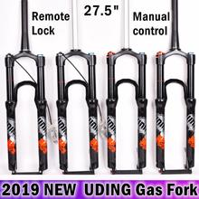 MTB Bicycle UDING 32 RL 120mm Travel Air Fork 27.5er Inch Fork Suspension Lock Straight Tapered Tube Thru Axle QR Quick Release цена 2017